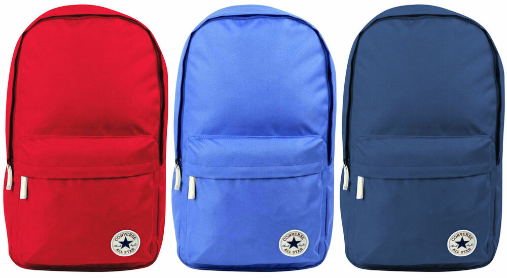 69e70dc926d9e8 Converse All Star Core Backpack School Bag Rucksack Gym Work Red Blue