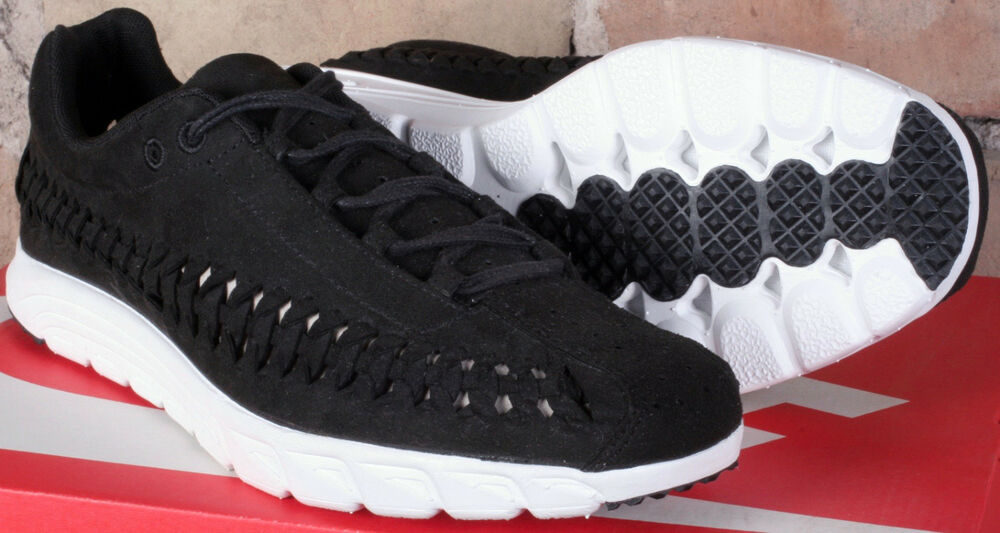Details about Nike Mayfly Woven Black Summit White Low Top Running Shoes  833132 001 - Size 8.5 9610c540d
