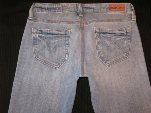 Ag Adriano Goldschmied The Angel Jeans Basse Svasati Sdrucito Taglie 26