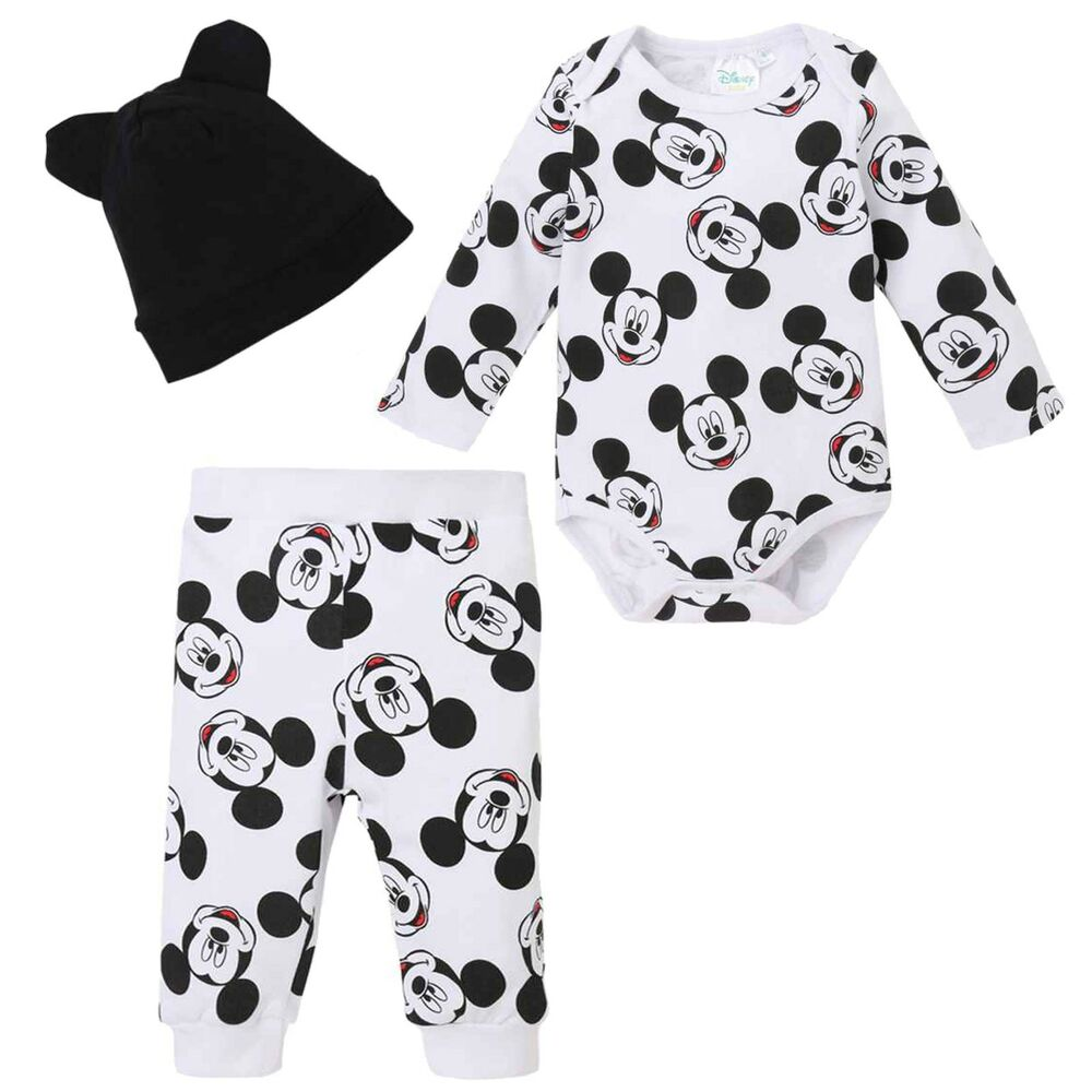 a71ca4010 Details about Disney Mickey Mouse Baby Boys Girl Outfit Clothes Gift Set  Bodysuit Trousers Hat