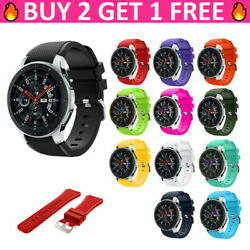 Replacement Soft Silicone 22mm Band Strap Bracelet For Samsung Galaxy Watch 46mm