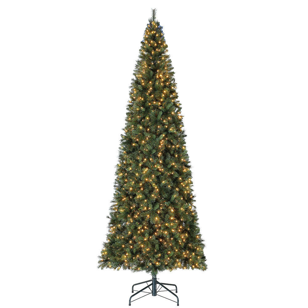 Details about Home Heritage 12 Foot Albany PVC Hard Needle Artificial Christmas Tree w/ Lights