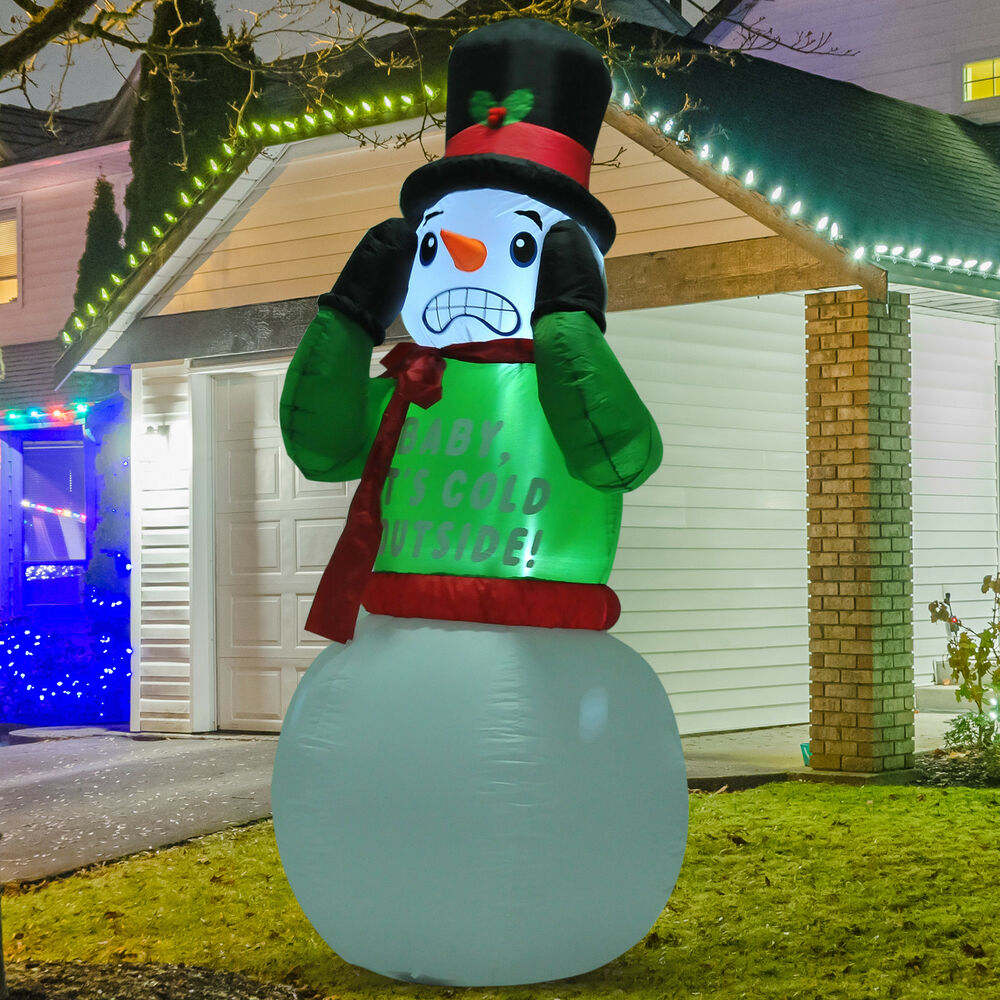 7ft Christmas Inflatable Snowman Airblown Decorations