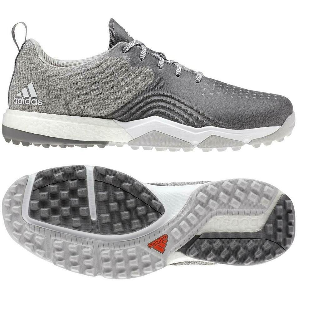 the latest 1e706 4015d adidas Golf 2019 Adipower 4orged S Golf Shoes (Grey Two  Grey Four  Raw  Amber)  eBay