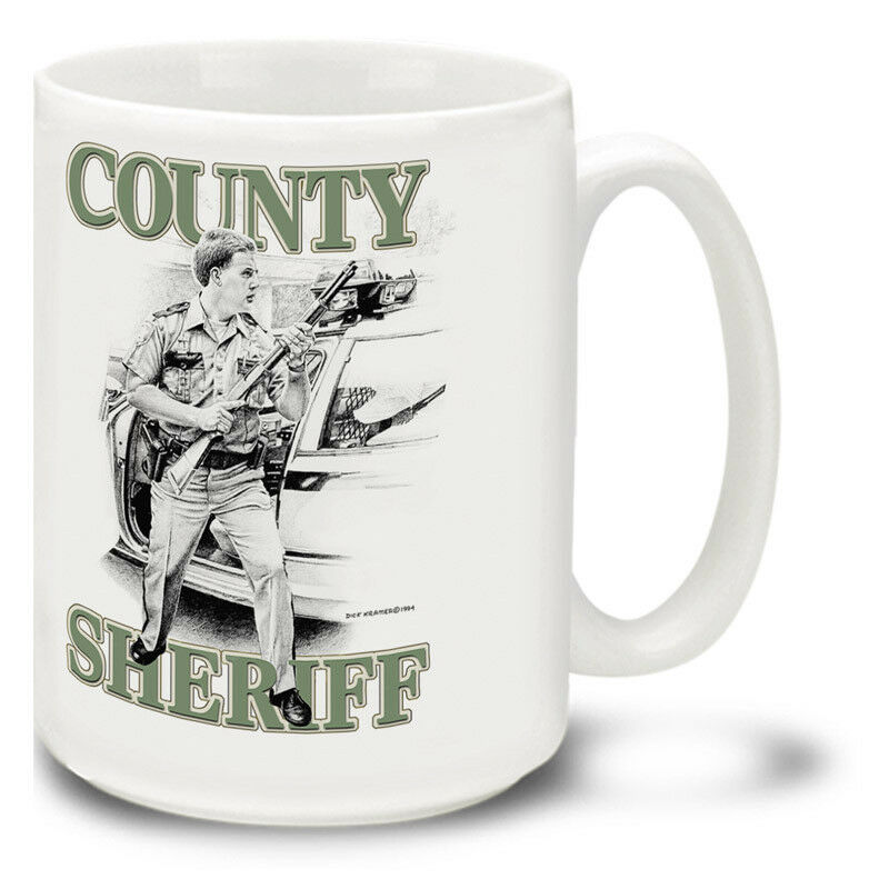 Details about New County Sheriff by Dick Kramer 15oz Ceramic Cuppa Mug Cup