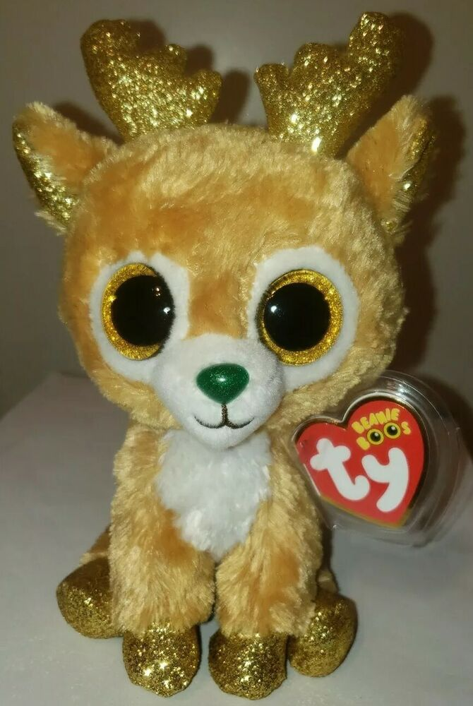Details about Ty Beanie Boos - GLITZY the Christmas Reindeer (6 Inch) 2018  NEW MWMT ~ IN HAND 73ca1507112