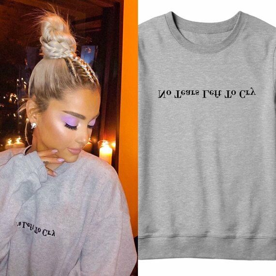 67d3eb4d3 Details about No Tears Left To Cry Ariana Grande Sweatshirt, Dangerous Woman