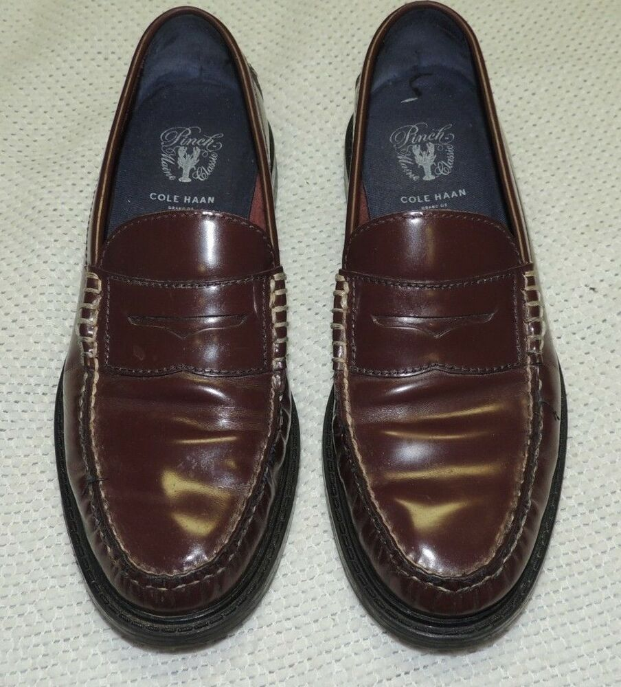 173eeb05dd6932 Details about COLE HAAN PINCH MAINE CLASSIC LOAFERS BURGUNDY LEATHER MEN S  SIZE 8 1 2 M EUC!!
