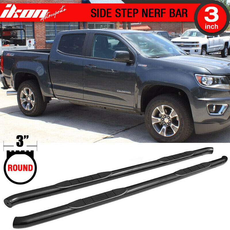 Details About Fits 15 17 Chevy Colorado Gmc Canyon Crew Cab Side Step Bar Running Board Pair
