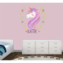 Personalised Unicorn Any Name Wall Decal 3D Art Stickers Vinyl Room Bedroom 1