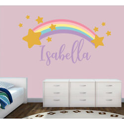 Personalised Rainbow Any Name Wall Decal 3D Art Stickers Vinyl Room Bedroom