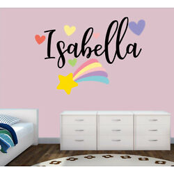 Personalised Rainbow Any Name Wall Decal 3D Art Stickers Vinyl Room Bedroom 1