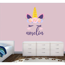 Personalised Unicorn Any Name Wall Decal 3D Art Stickers Vinyl Room Bedroom 6