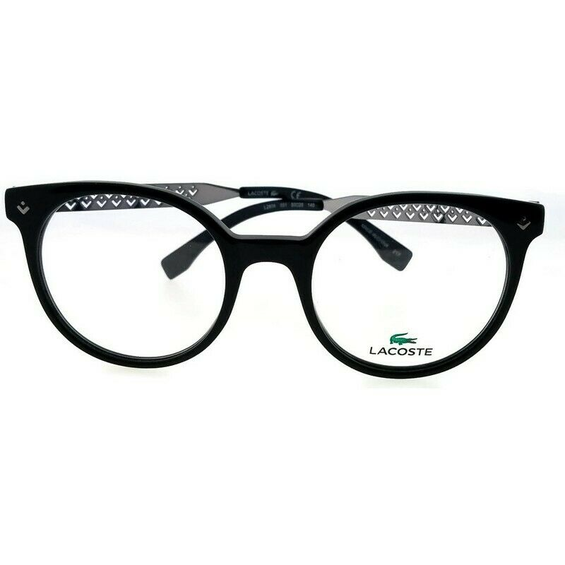 9067d51d762 Lacoste L2806-001-50 Women s Black Frame Clear Lens Genuine Eyeglasses NWT  886895328548