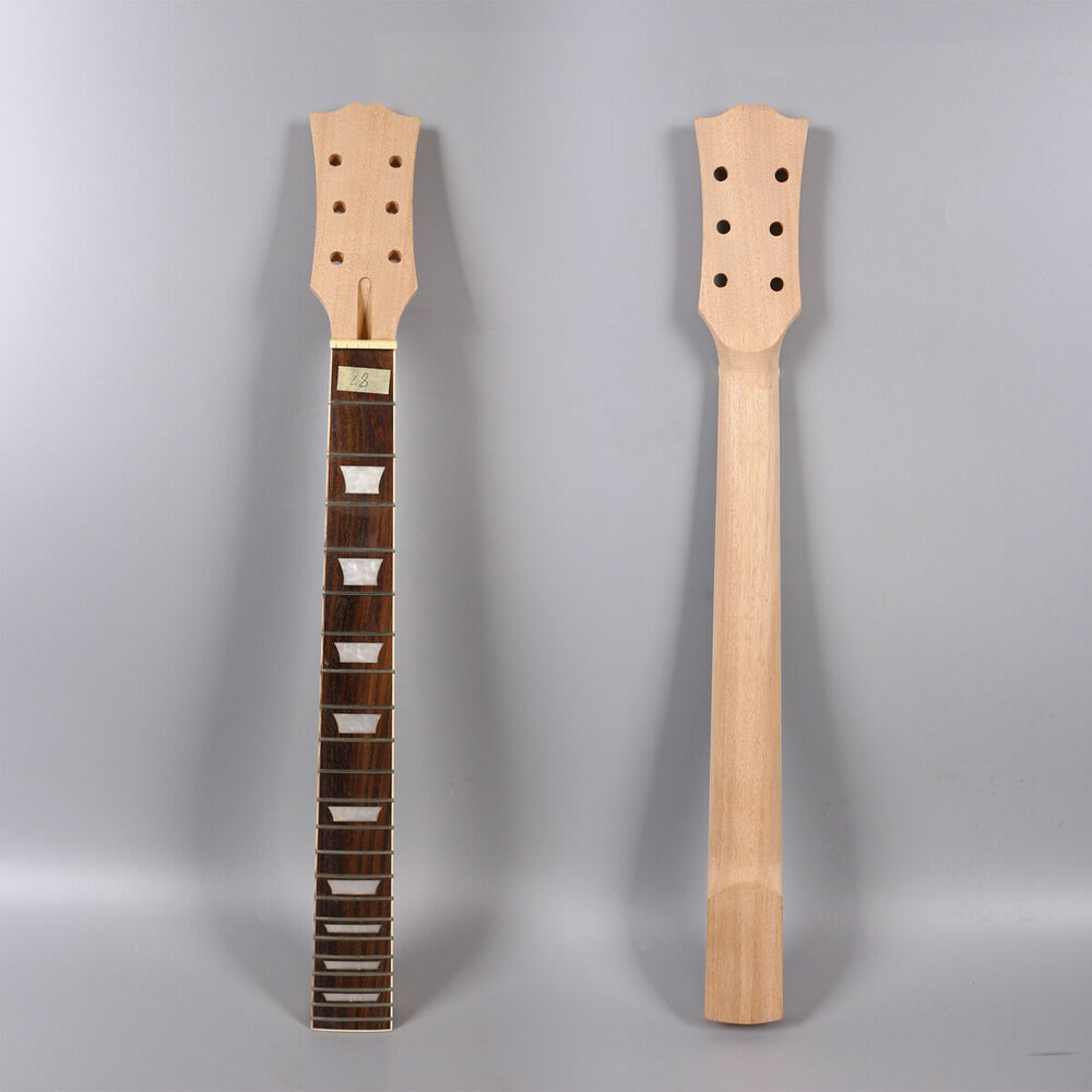 22 fret guitar neck replacement inch mahogany rosewood fretboard parts new ebay. Black Bedroom Furniture Sets. Home Design Ideas