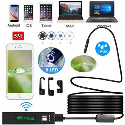 Kyпить 5M 8LED Wireless Endoscope WiFi Borescope Inspection Camera for iPhone Android на еВаy.соm