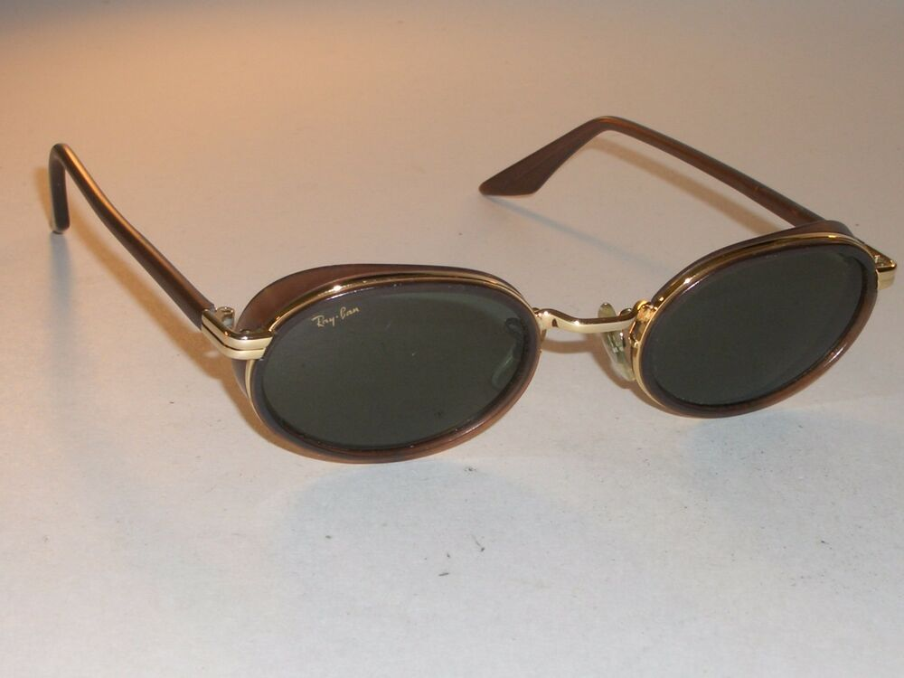 4582636056 Details about VINTAGE B L RAY-BAN USA W2814 BROWN GOLD COMBO G15 SIDE-CUPS  DINERS SUNGLASSES