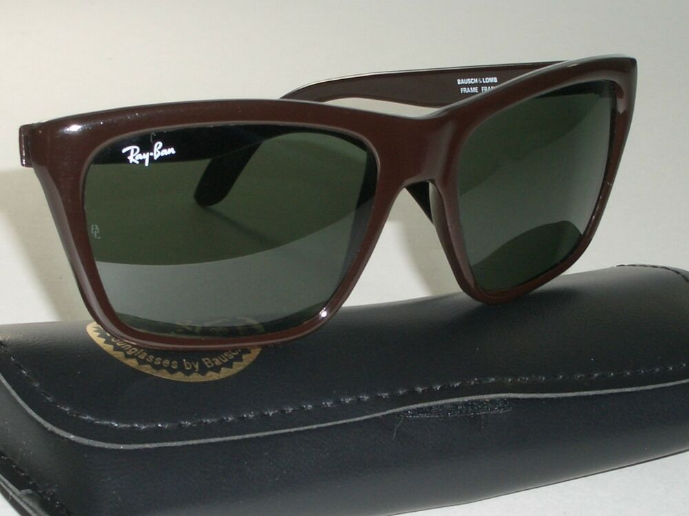 9e94e7a68cd Details about 56mm BAUSCH   LOMB RAY-BAN L1720 CHOCOLATE BROWN G15 CATS  3000 SKI SUNGLASSES