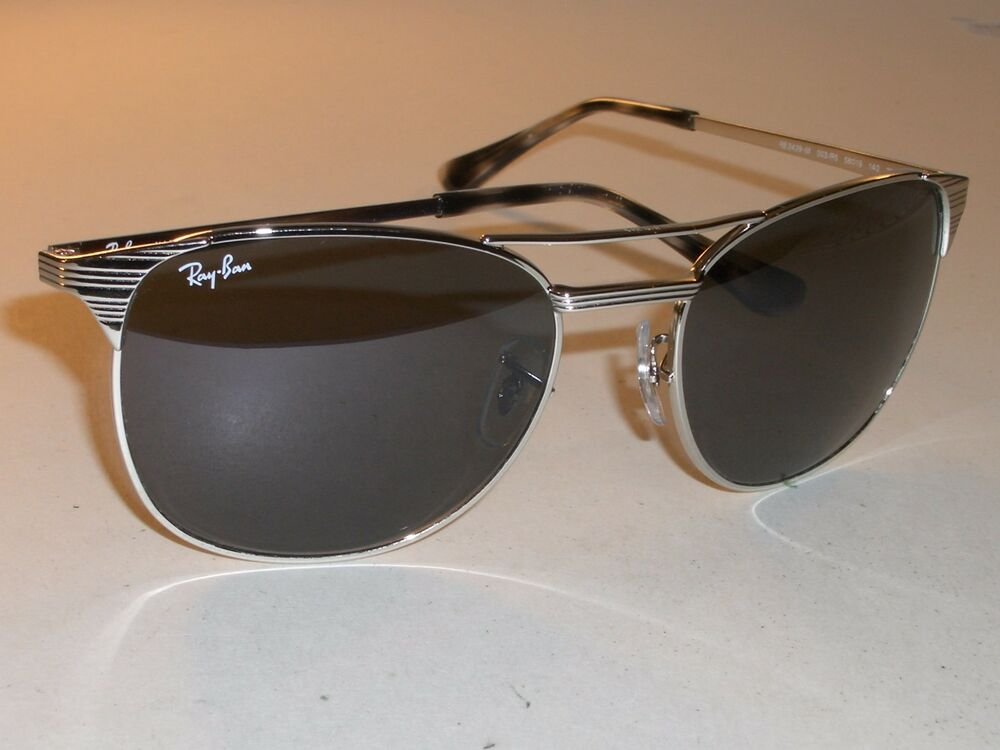 8053fd14f48 Details about RAY BAN RB3429-M 003 R5 58  19 SILVER BLUE TONE SIGNET  AVIATOR SUNGLASSES NEW