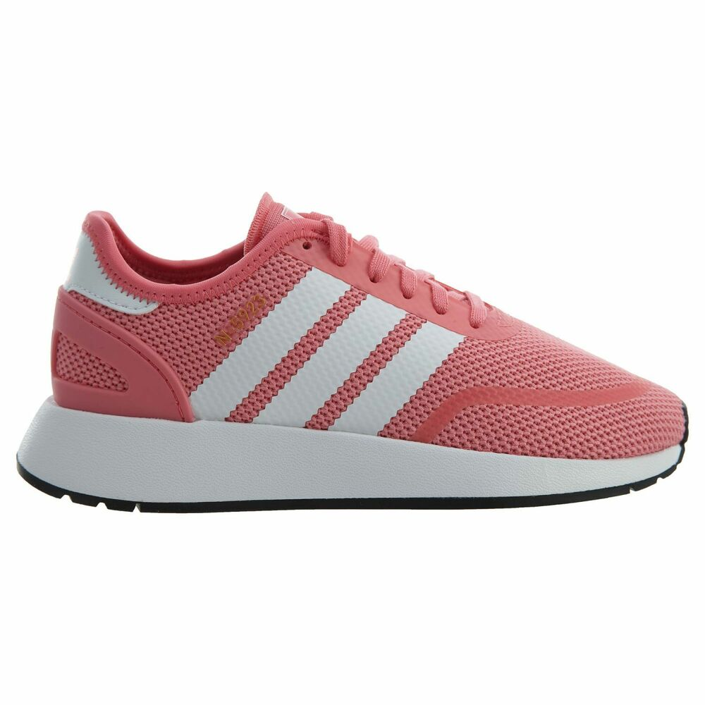84a0e1feaa21 Details about Adidas N-5923 Big Kids AC8542 Chalk Pink White Grey Mesh Athletic  Shoes Size 6