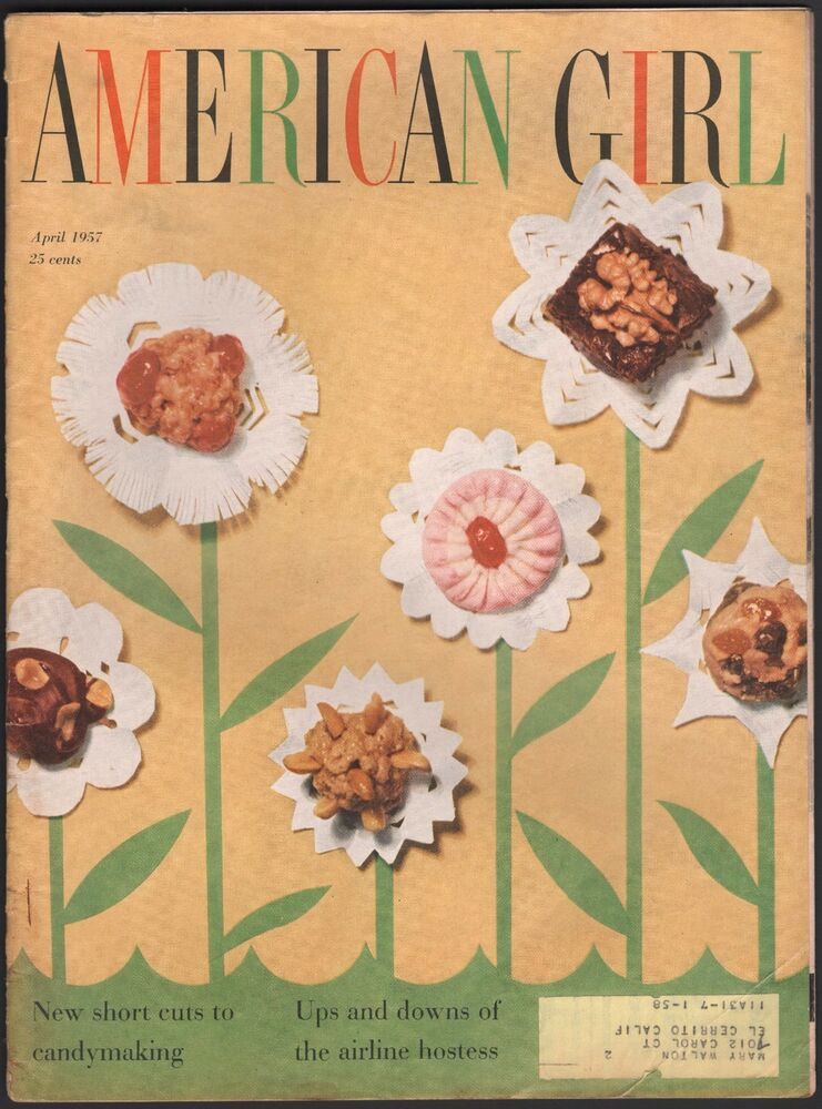 Details about APRIL 1957 AMERICAN GIRL MAGAZINE TEEN FASHION, AIRLINE  HOSTESS