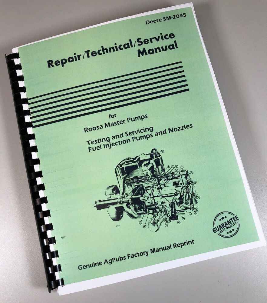 Roosa Master Fuel Injection Pump Manual Guide