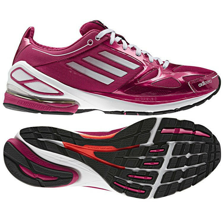 Details about New Womens adidas F50 2.0 Running Shoes Pink White Black MSRP   100 G62766 f052249fb2