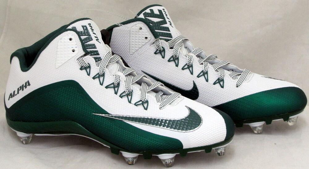 fcade70ee389 Details about Nike Alpha Pro 2 TD Low Men s Football Cleats Size 11.5 Green  White 719930-133