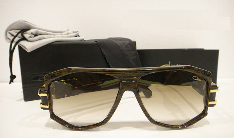 82a6809179c7 Details about Cazal 163 3 Sunglasses 163 Rare Color 096 Brown Wood Gold  Authentic New