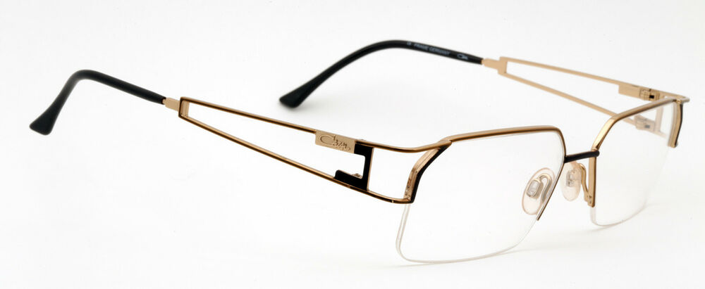3bef881ea3 Cazal 716 Eyeglasses Half-Rimless Frames Color 745 Brown Gold Authentic New