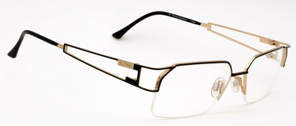 05a58b55258 Details about Cazal 716 Eyeglasses Half-Rimless Frames Color 302 Black Gold  Authentic New
