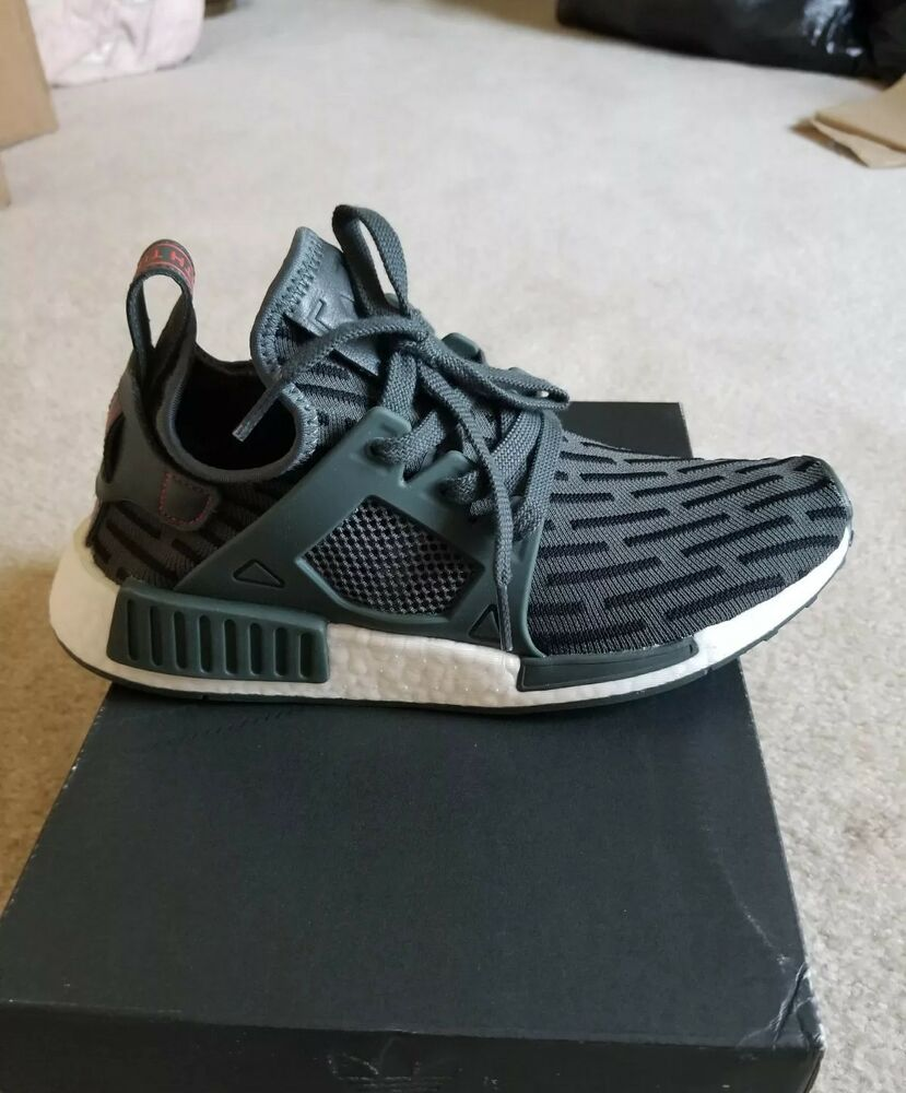 the latest 97b5f 25d75 Details about 9.5 New Womens Adidas NMD XR1 Primeknit shoes olive green  run training casual