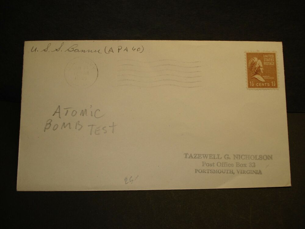 USS BANNER APA-60 Naval Cover 1946 OPERATION CROSSROADS