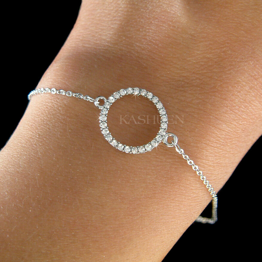9602da3a5 Details about Danity Infinity Circle of Love made with Swarovski Crystal  Bridesmaids Bracelet