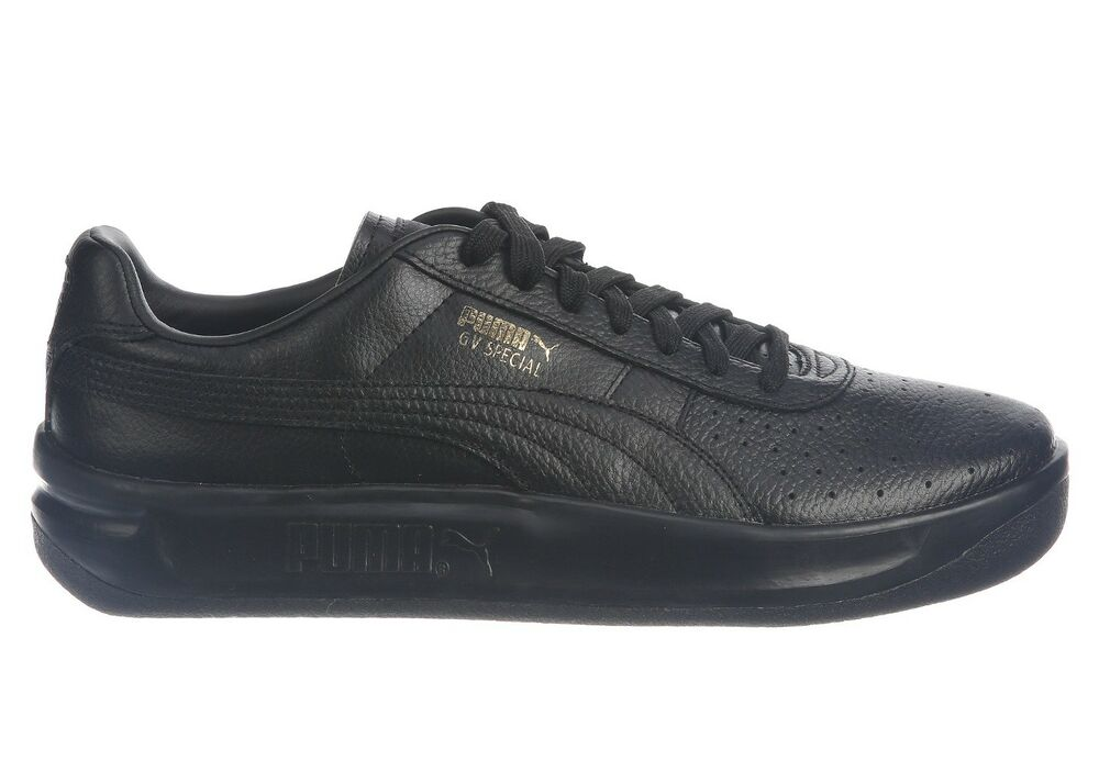 2e1831b1405 Details about Puma GV Special Mens 366613-02 Black Gold Leather Athletic  Shoes Size 9
