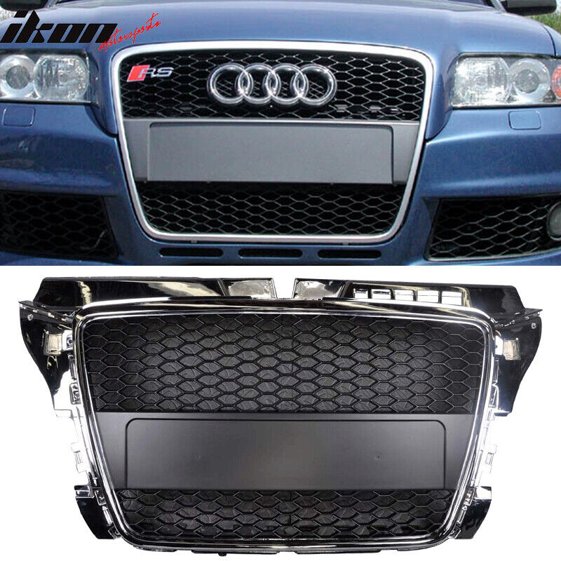 Fits 08-11 Audi A3 RS Style Front Hood Grill Grille Chrome