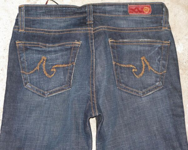 Ag Adriano Goldschmied The Angel Jeans Taglie 26 Basse Svasati Scuro