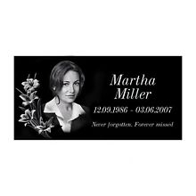 12x24 Human Headstone, tombstone on the Grave Marker Granite, people, laser engr