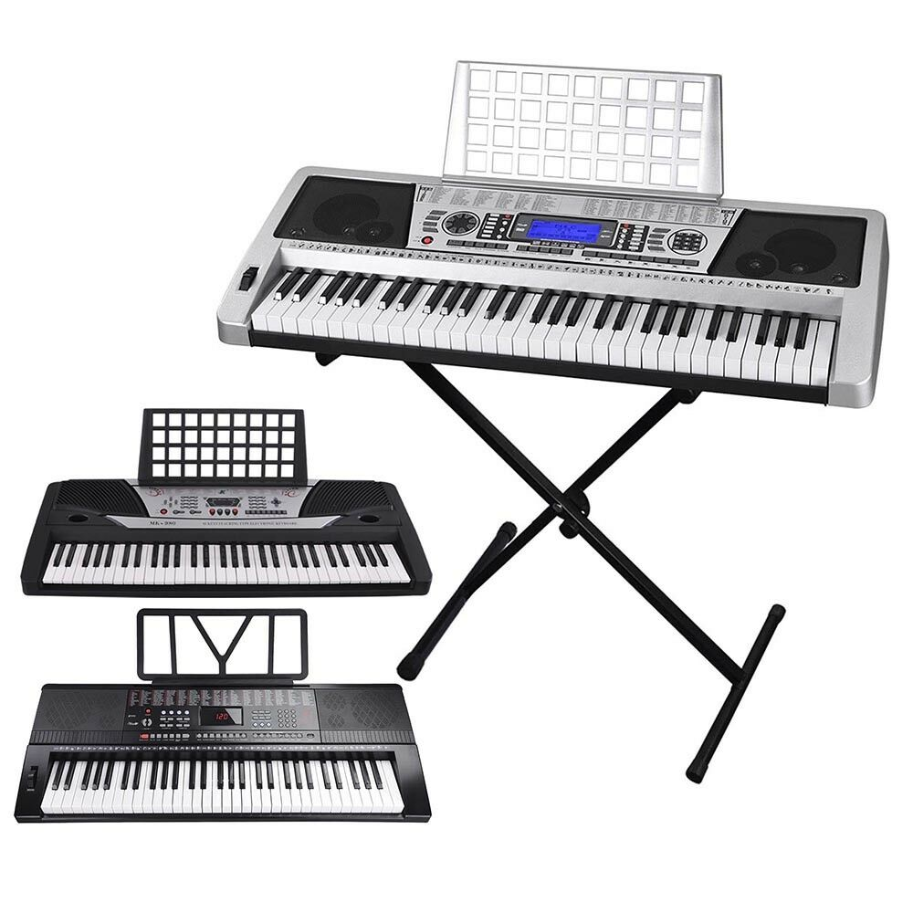 61 key electric keyboard digital piano instrument kids talent practise xmas gift ebay. Black Bedroom Furniture Sets. Home Design Ideas