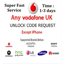 VODAFONE UK UNLOCK CODE SERVICE for Sony Xperia,Nokia Lumia,Huawei,SAMSUNG etc.