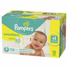 Pampers Swaddlers Diapers Size 3 136 Count