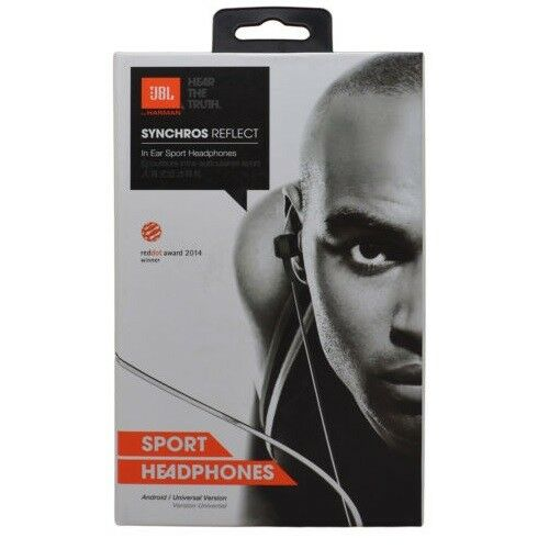 7cda0c296fe Details about Brand New Sealed JBL Synchros Reflect In Ear Sport Headphones  With Mic - Black