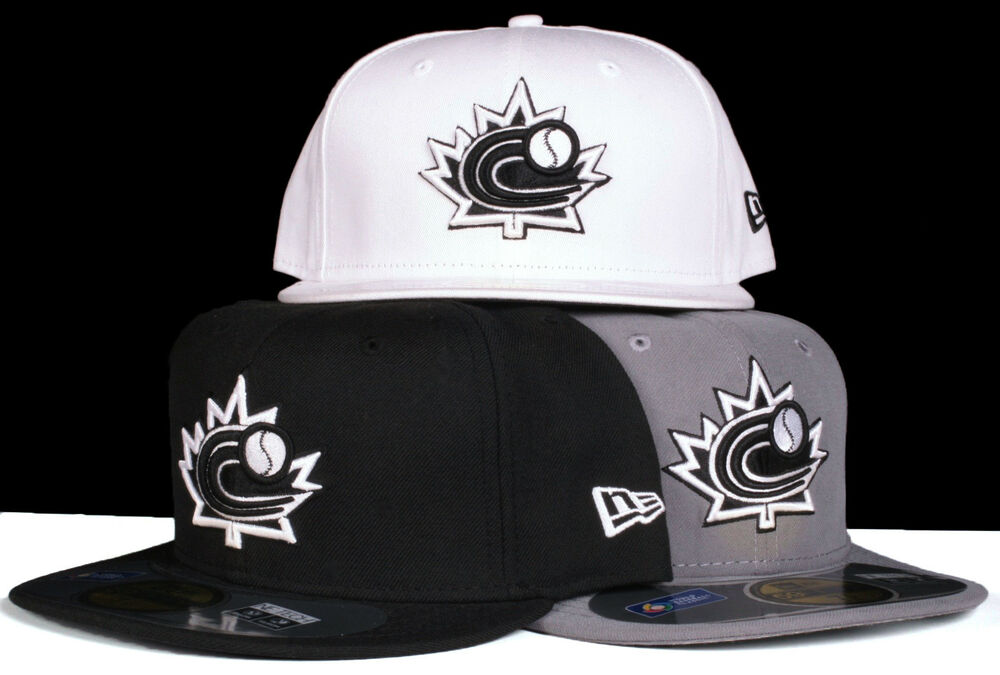 46bcfa24c4b Details about World Baseball Classic Team Canada 59Fifty New Era Fitted Hat  - Black White Grey