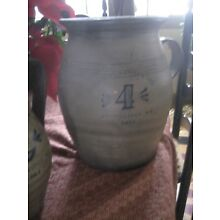 Redware Stoneware-Look  Pottery--Blue/Grey--Extra-Large jug