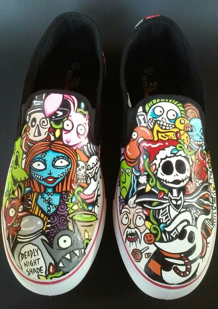 34c718502208 Details about New Custom Nightmare Before Christmas Jack Sally Oogie Boogie  Men s Shoes Sz 10
