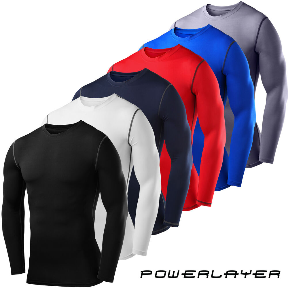 350261284d9 Details about Mens Boys Body Armour Compression Baselayers Thermal Under  Shirt Top Skins