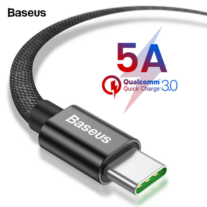 Baseus 5A USB Type C Cable For Huawei Mate 20 Xiaomi iPad Pro Quick ... 0c586b78ae32