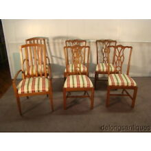 Harden Solid Cherry 4 Matching Chippendale Chairs