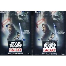 (2) 2018 Topps Star Wars GALAXY Trading Cards 61c Blaster Box LOT =1PatchCard/bx