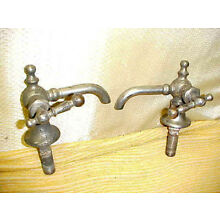 Pair of Antique Brass Faucets <<< LOOK >>>